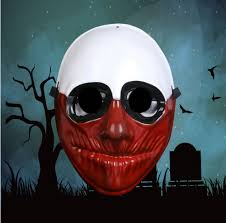 Payday 2 Halloween Masks by 1pcs Pvc Scary Clown Mask Payday 2 Halloween Mask For Antifaz