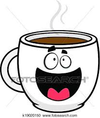 Cartoon Illustration Of A Happy Coffee Cup