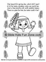 Palm Sunday Coloring Book And Story That Rhymes For Kids See More Sheets Children