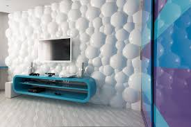 Living Room Bubbly 3D Wall Panels Made Of PVC For Decor