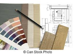 Worktable Interior Design With Color And Fabric Selection