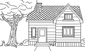 Gingerbread House Coloring Pages To Print In The Village Houses Page