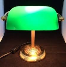 Bankers Table Lamp Green by Green Glass Shade Bankers Lamp Foter