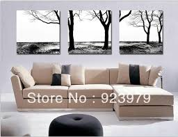 100 Black White Abstract Art 3 Panel Canvas Framed Tree Wall High Quality Decoration Home Unique Gift750 In Painting Calligraphy From