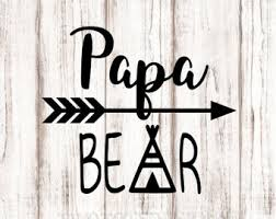 Papa Bear Decal YETI RTIC Vinyl