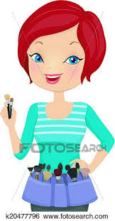 Clip Art Make Up Artist Fotosearch Search Clipart Illustration Posters Drawings