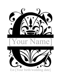 Split Monogram Personlised