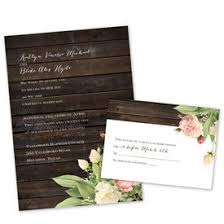 Rustic Wedding Invitations Floral Invitation With Free Response Postcard