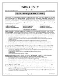 Project Management Functional Resume Perfect Examples