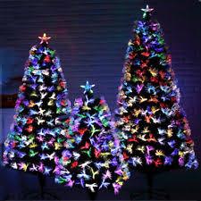 Pre Lit Fiber Optic 6 7 Artificial Christmas Tree LED Multicolor Lights MFG
