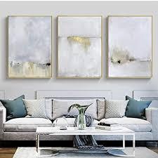 llxhg gold und weiß abstrakte leinwand malerei moderne bild