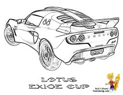 Car Printable Of Lotus Exige Rear View At YesColoring