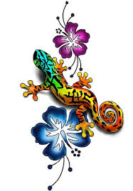Artistic Gecko Tattoo Design