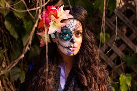 Easy Sugar Skull Day Of by Day Of The Dead Half Face Makeup How To Paint A Sugar Skull On