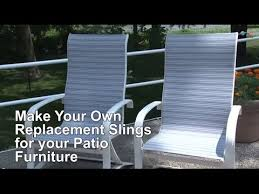 Stackable Outdoor Sling Chairs by Replacement Sling Cover For Patio Furniture Make Your Own Youtube