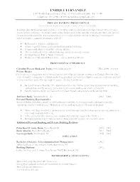 Banker Resume Samples Universal Examples With Private Sample Personal Objective