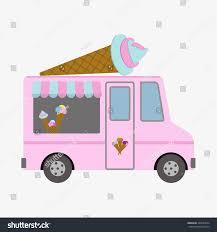 100 Buy Ice Cream Truck Bus Flat Design Style Stock Vector Royalty Free