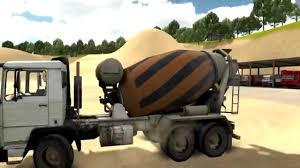 Cement Mixer Truck Simulation And Demo Trucks Videos For Children ...