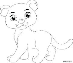 Panther Coloring Pages Animal Cute