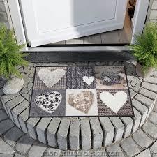 tapis paillasson original achat vente tapis farandole de cœurs