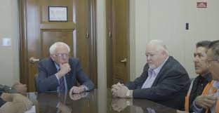 VIDEO: Bernie Sanders Meets With Truck Drivers
