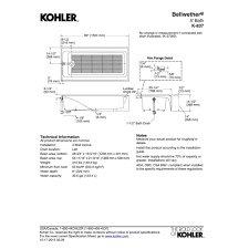 Kohler Villager Tub Rough In by Kohler K 837 0 Bellwether White Soaking Tubs Tubs U0026 Whirlpools