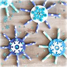 Snowflake Craft Scr Y Projects For Preschoolers Snow Crafts Toddlers Easy Ideas Paper
