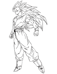 Good Dragon Ball Z Goku Coloring Pages 84 In Free Kids With