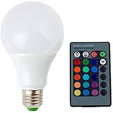 supernight e27 e26 9w rgb led light bulb 16 colors