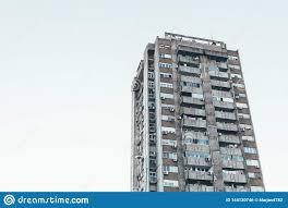 100 Belgrade Apartment EasternEuropean Building In Serbia Stock Photo