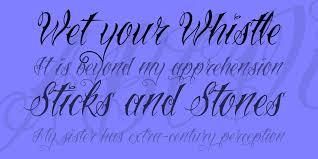 Vtc Nue Tattoo Script Font 1001 Fonts