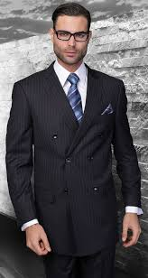 statement italian wool double breasted suits navy pinstripe sd 300