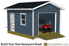 Saltbox Shed Plans 12x16 by 12x16 Shed Plans With Garage Door Icreatables