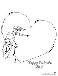 Heart For My Daddy Coloring Page