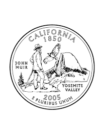 California State Quarter Coloring Page
