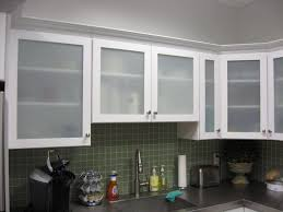 Kitchen Best Frosted Glass Kitchen Cabinet Door With Plaid