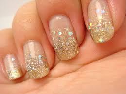 Nail Art Gold Glitter Nail Designs