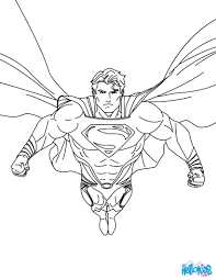 Coloring Pages Superman Printing And Drawing Hellokids Free Book
