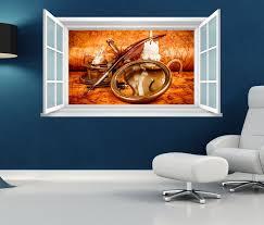 3d wandtattoo fenster karte antik schatz kerze wand aufkleber wanddurchbruch wandbild wohnzimmer 11bd1872 wandtattoos und leinwandbilder günstig