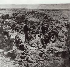 Oregon Historical Fighting In The Lava Beds During Modoc