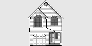 Wide House Plans by Narrow Lot House Plan Small Lot House Plan 20 Wide House 9920