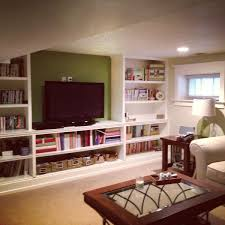 Basement Rec Room Tv Room Built In Shelves Follow Your Bliss
