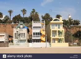 100 Beach Houses In La Santa Monica Los Angeles California USA Stock