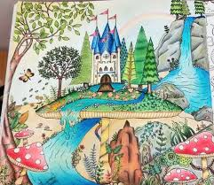 Enchanted Forest Castelo No Cogumelo Floresta Encantada Johanna Basford Secret Garden BookAdult ColoringColoring