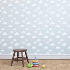 3 Clouds Wall Design Nursery Stencil