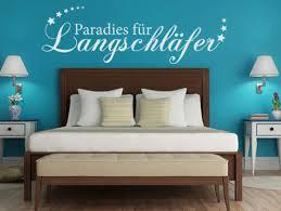 wandtattoo schlafzimmer sprüche paradies für langschläfer nr