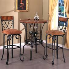3 Piece Kitchen Table Set Ikea by Three Piece Round Pub Table And Upholstered Seat Bar Stool Set
