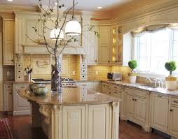 White Cabinet Decorative Vase And Pendant Lighting For Italian Style Kitchen Decor Decorating Ideas