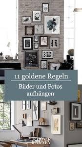 bilder und fotos aufhängen ideen für wohnzimmer