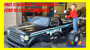 100 Mini Monster Truck Part 1 Project Ford To Chevy Conversion YouTube